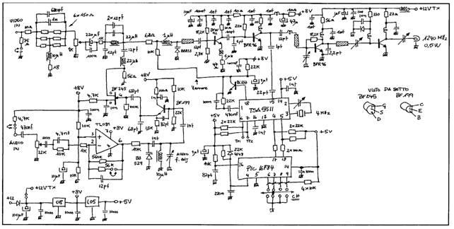 23cm 0 5w atv transmitter